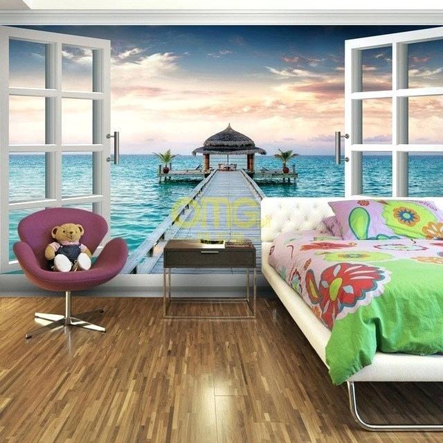 3d wallpaper for bedroom three dimensional wallpaper bedroom wall wallpaper romantic mural blank window 3d wallpaper bedroom living mural roll modern at omgloh.com