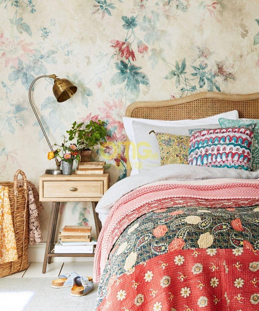 bedroom wallpaper ideas designs ideal home cool inspirations at omgloh.com