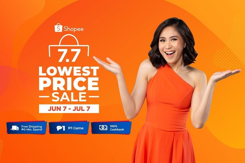 Shopee 7.7 Lowest Price Sale at omgloh.com