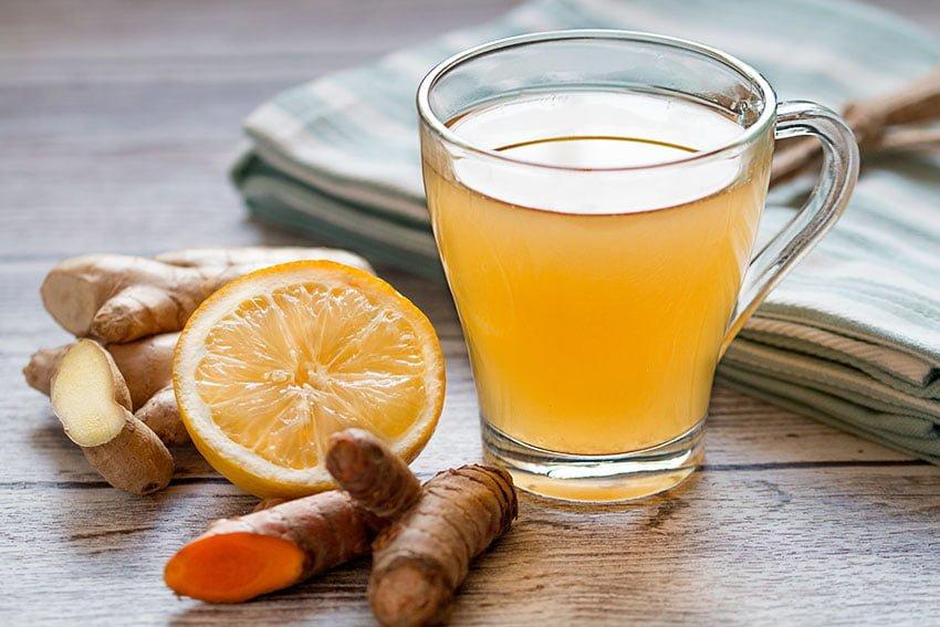 Ginger and Lemon tea 1 at omgloh.com