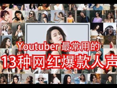 Youtuber 最常用的 13种网红爆款人声 | 这是高手 ....等等