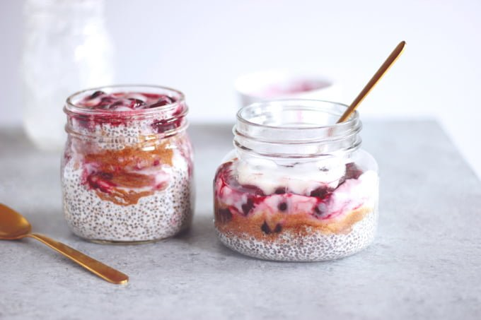 Cherry Chia Seed Pudding4 at omgloh.com