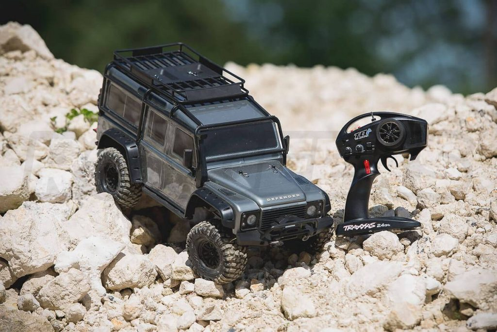 Traxxas TRX 4 Land Rover Defender and transmitter 1200x1200 at omgloh.com