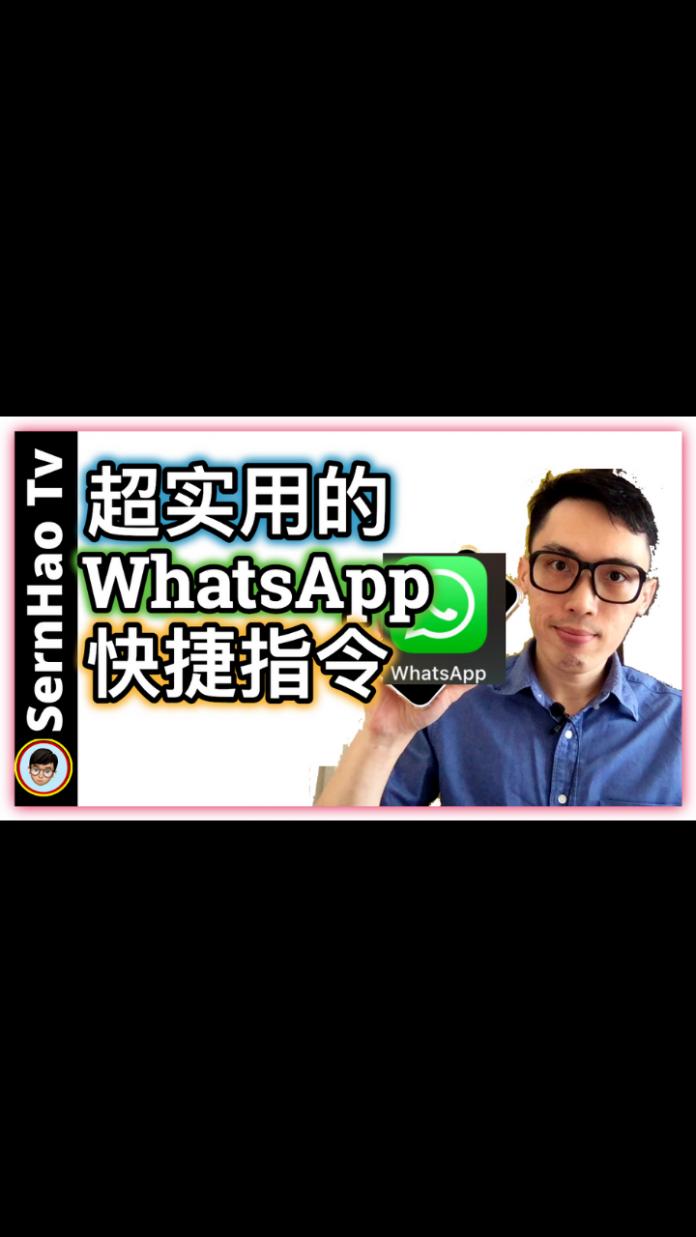 iPhone最实用的WhatsApp快捷指令!|iPhone使用技巧-16|SernHao Tv